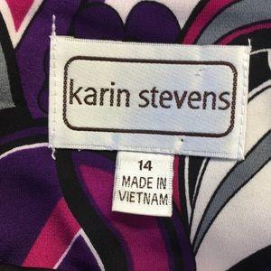 Karin Stevens Dresses - Karin Stevens Multi Colored Floral Print Dress